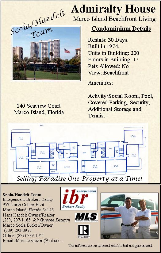 Admiralty House Marco Island Admiralty House Condos For Sale – Admiralty House Marco Island Floor Plan